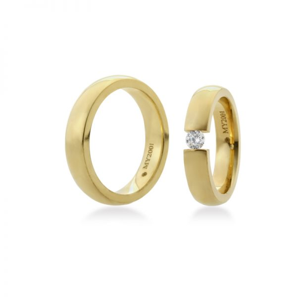 Bartijewels Trauringe Gold massiv MY-2001