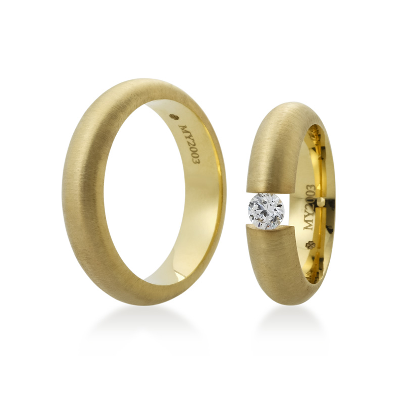 Bartijewels Trauringe Gold massiv MY-2003