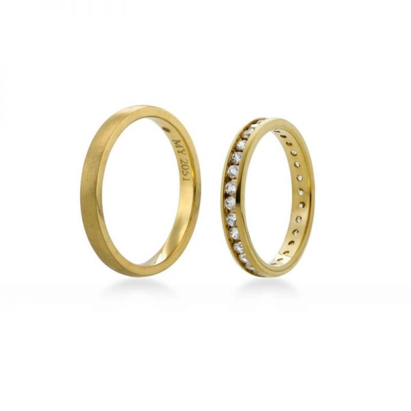 Bartijewels Trauringe Gold massiv MY-2051